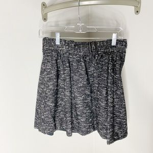 Girls Burberry Belted Black and White Tweed Skirt